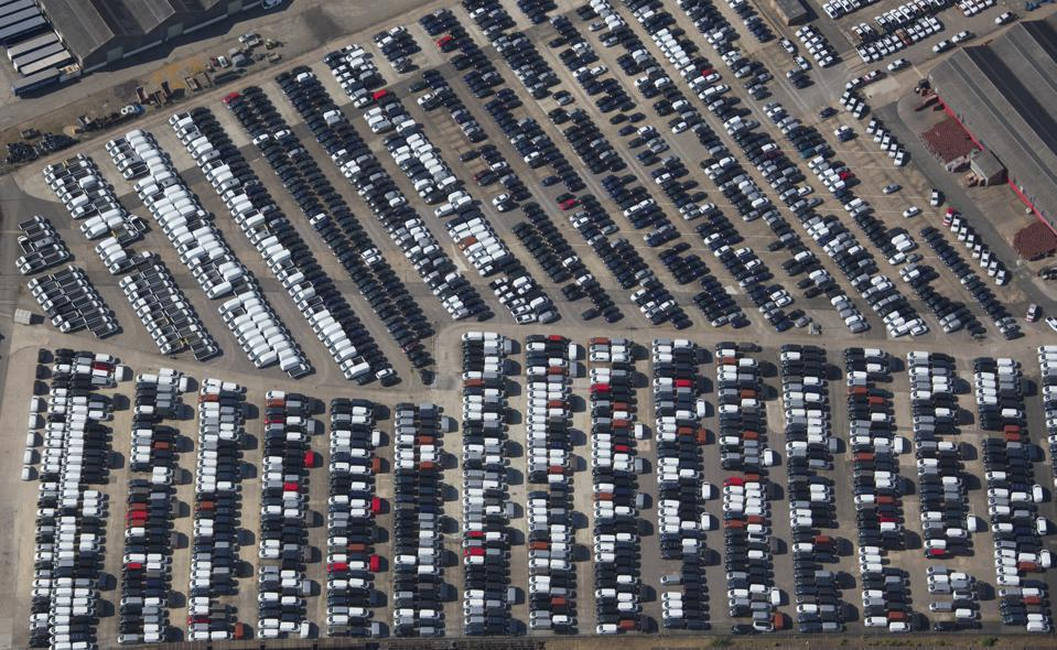 Aerial Photograph of Unsold Cars And Vans, Warwickshire