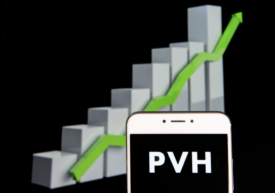 American clothing brand PVH logo is seen on an android