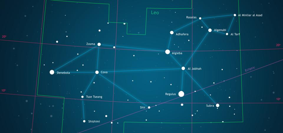 Constellation Leo, illustration