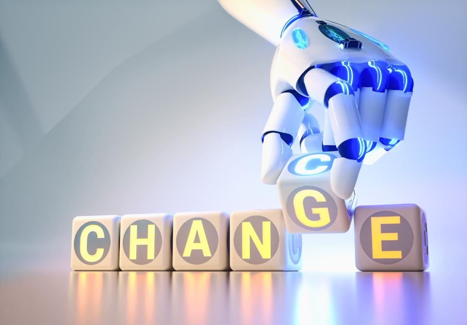 Change in the workplace can provide an opportunity for innovation and growth.