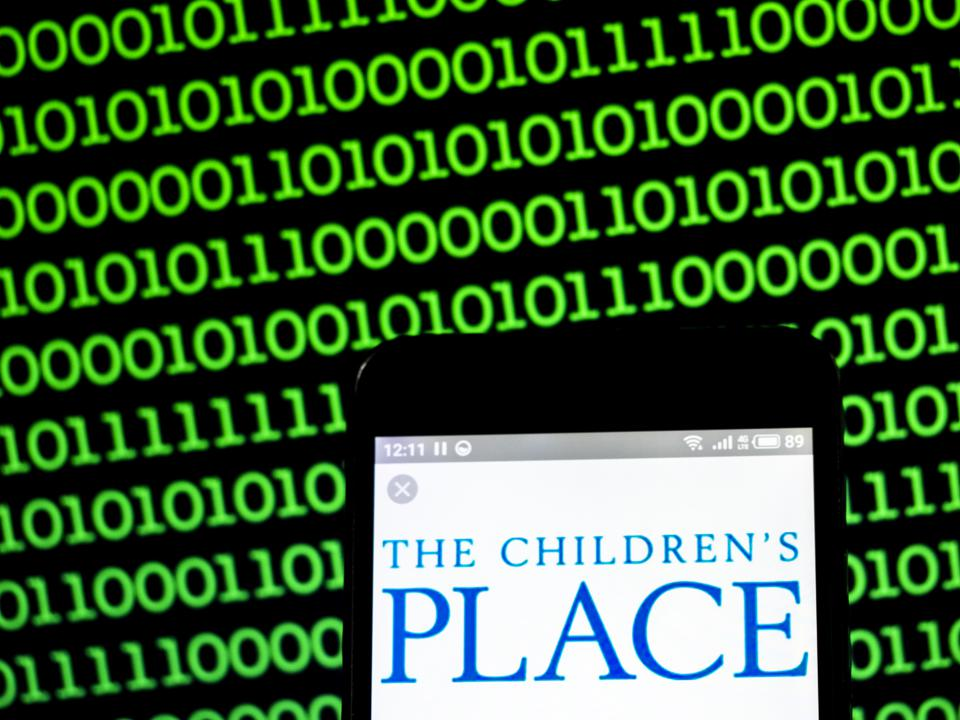 Children's Place Inc. company logo seen displayed on a smart