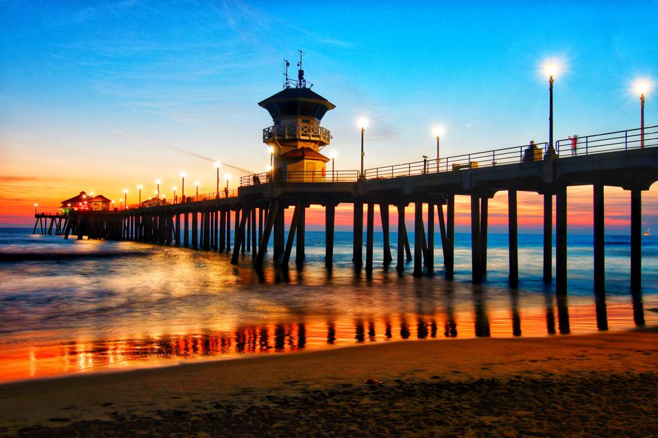 Huntington Beach, California where average one-bedroom rents declined 22 percent