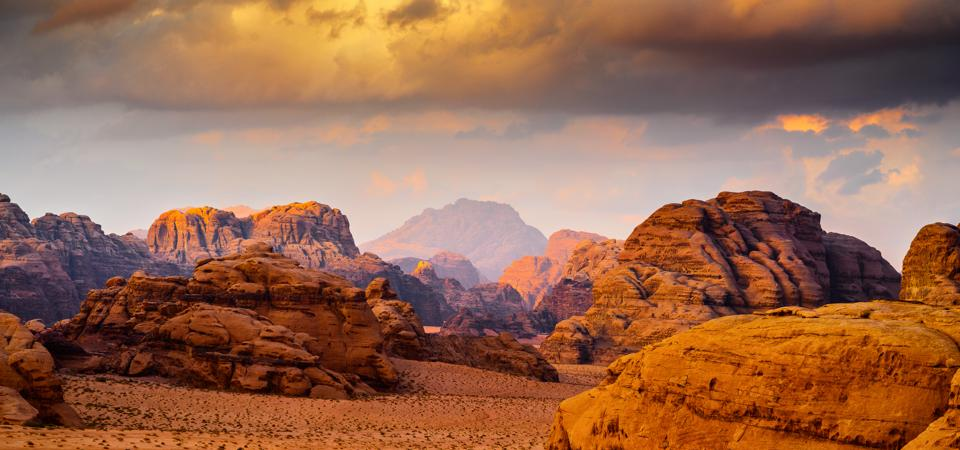 Jordan's Wadi Rum Desert, where films like 'Rogue One' and 'The Rise of Skywalker' from the Star Wars saga, were filmed.