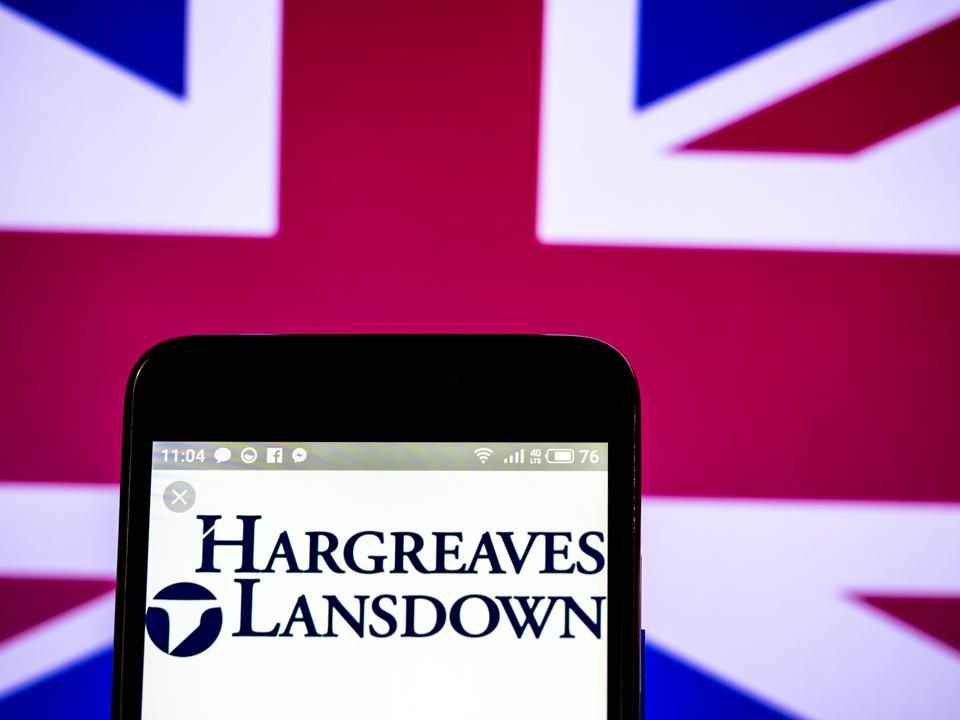 Hargreaves Lansdown plc company logo seen displayed on a