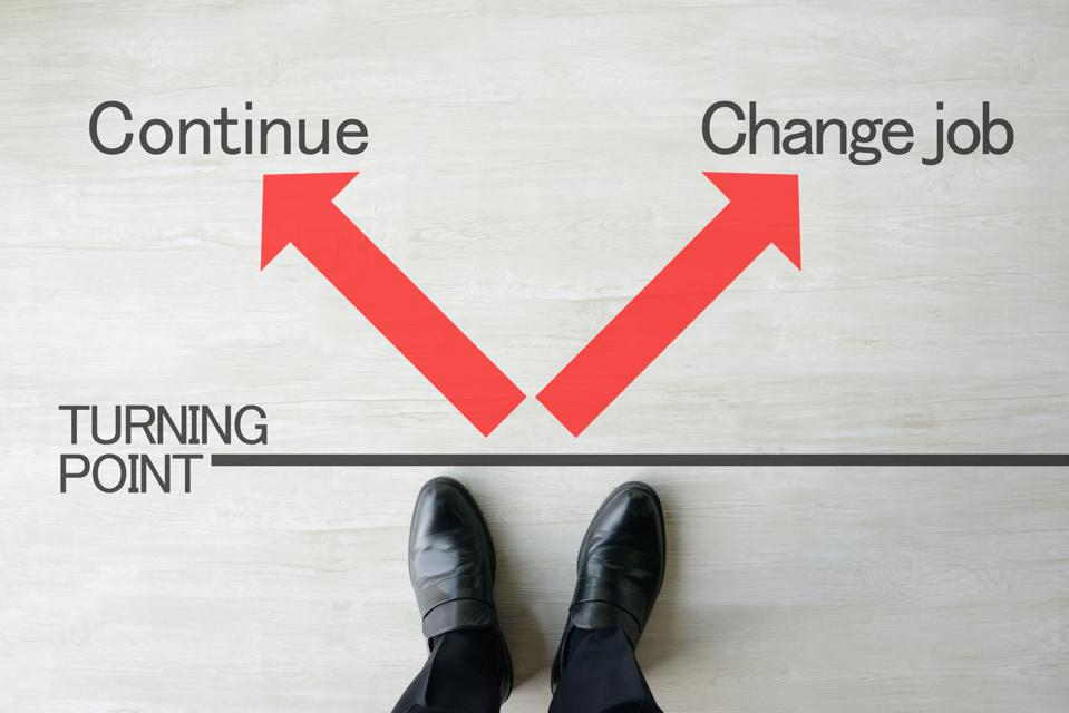 Business concepts, continue or change job