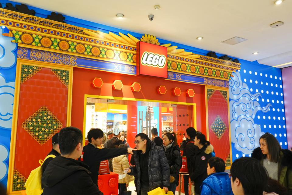 Lego Opens Flagship Store In Beijing, drawing crowds of shoppers