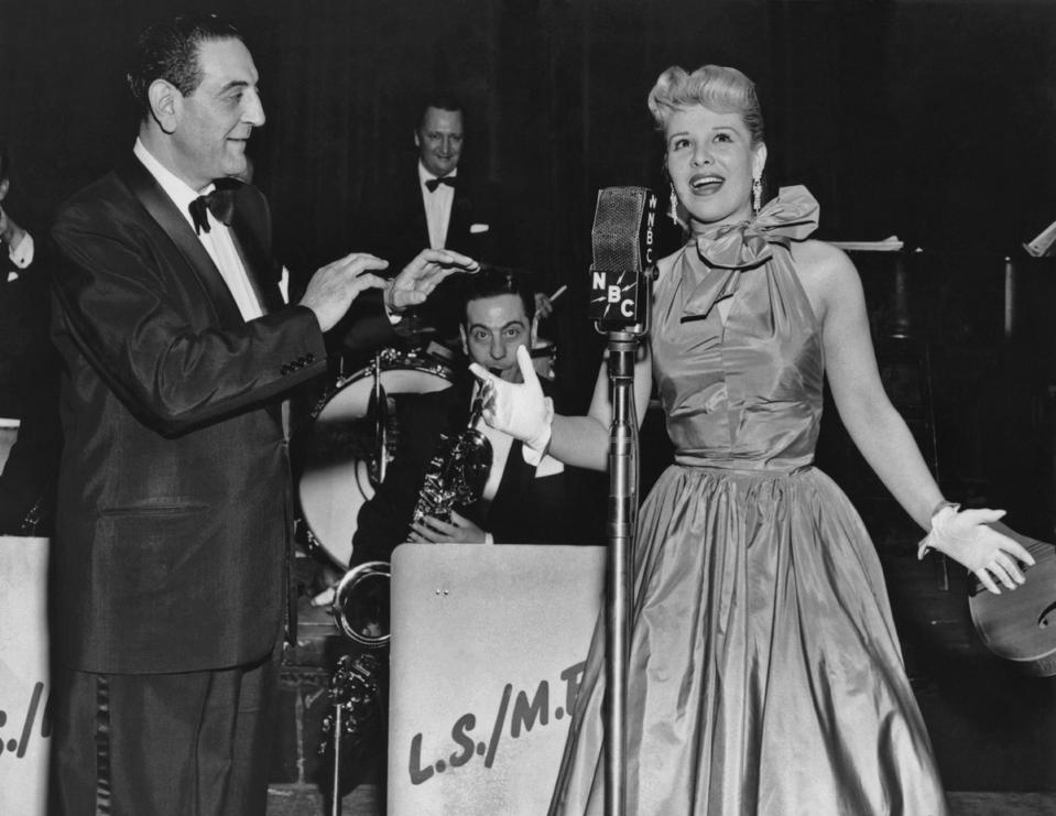 Guy Lombardo And Eileen Barton On Stage