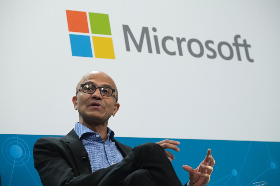 Volkswagen And Microsoft CEOs Hold ″Fireside Chat″