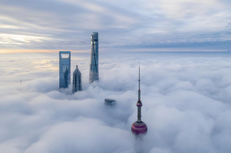 Shanghai In Clouds