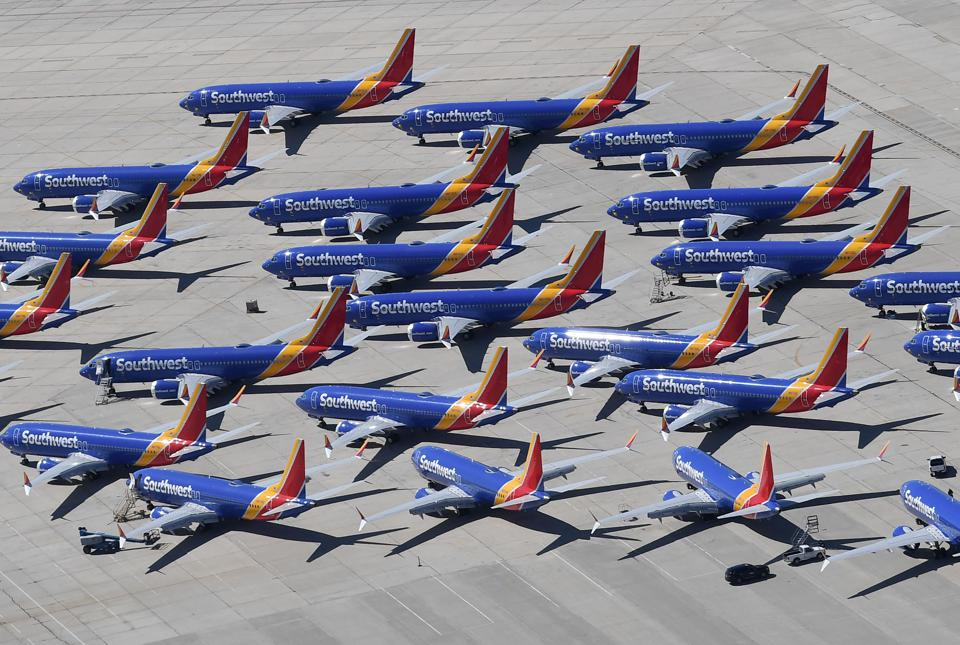 Boeing 737 MAX 8s owned by Southwest Airlines