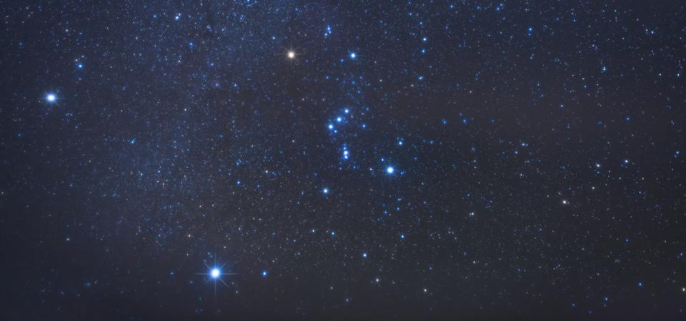 The Orion constellation.