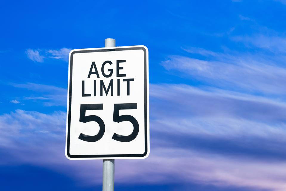 Ageism discrimination social issue sign concept