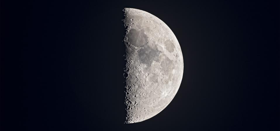 The 7-day old First Quarter Moon on May 21
