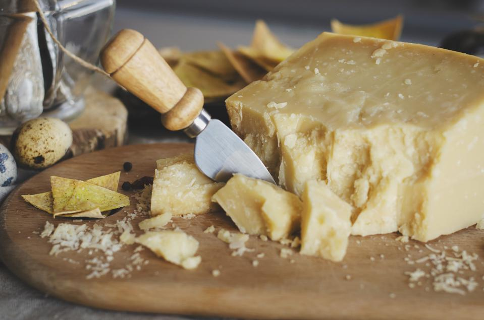 Parmigiano-Reggiano with cheese knife