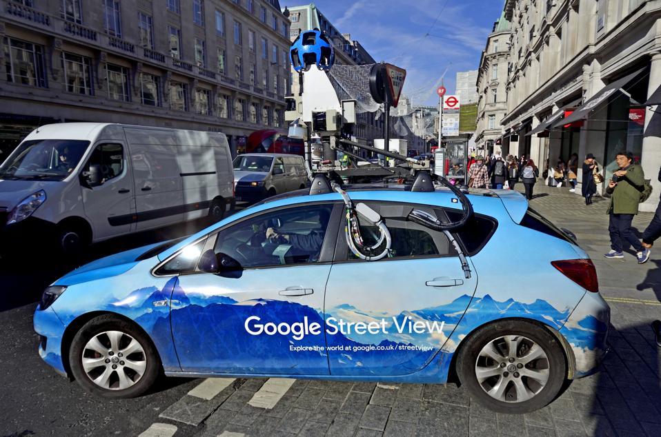 Google Street View camera car in Regent Street