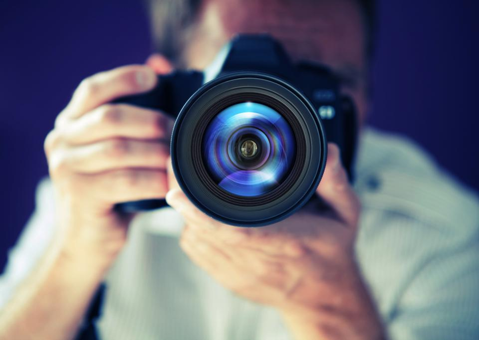 Photographer on photo shoot