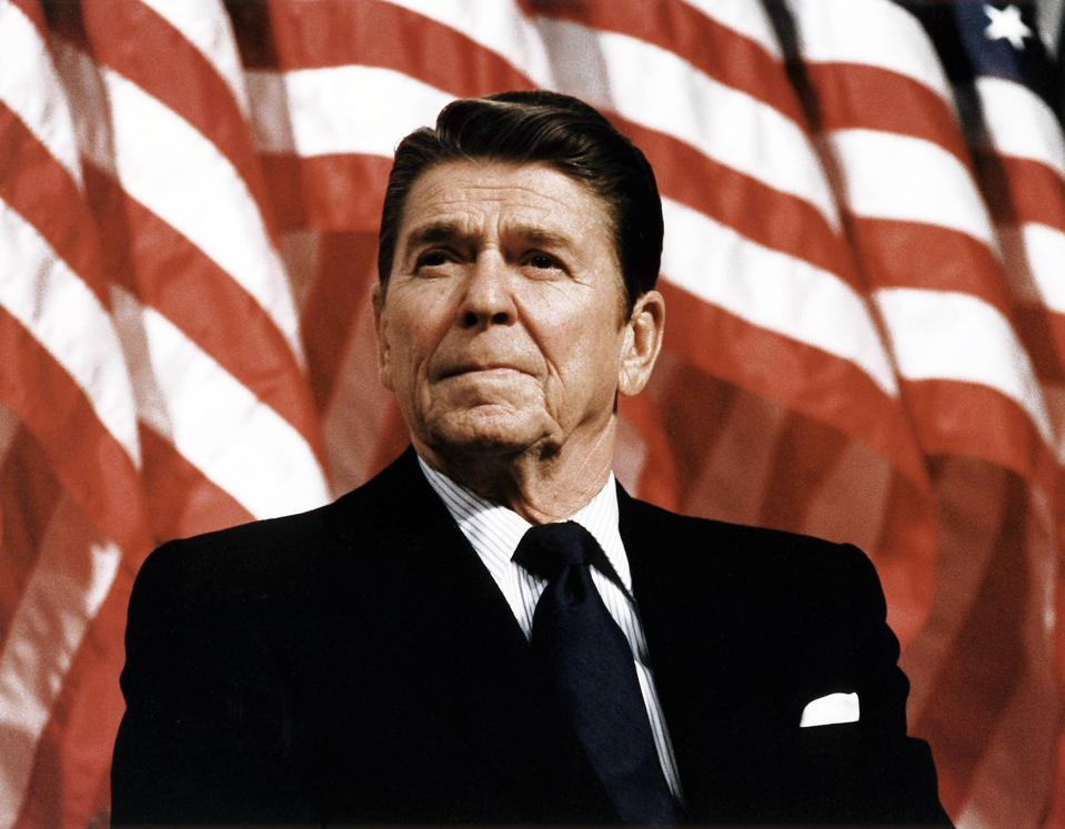 President Ronald Reagan at Durenberger Republican convention Rally, 1982
