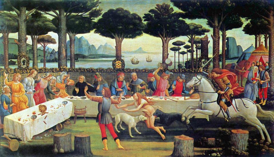 Boccaccio's Decameron 1487, By Sandro Botticelli, Museo del Prado Deutsch. Madrid ...
