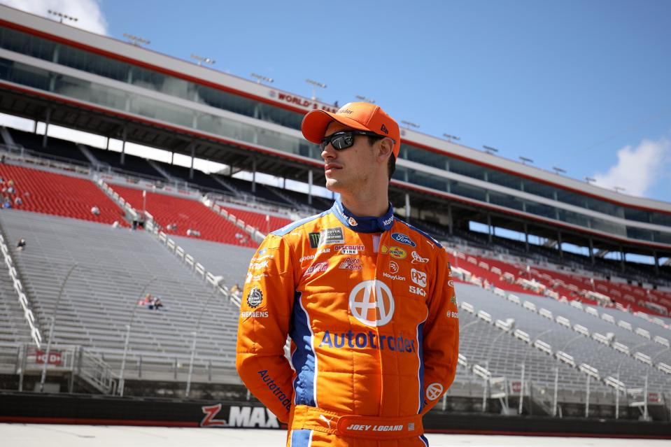 Just Like All Of Us, NASCAR Driver Joey Logano Is Hunkered Down, But Active And 'Intense' At Home