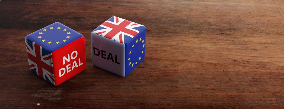 Brexit, deal or no deal. 3d illustration