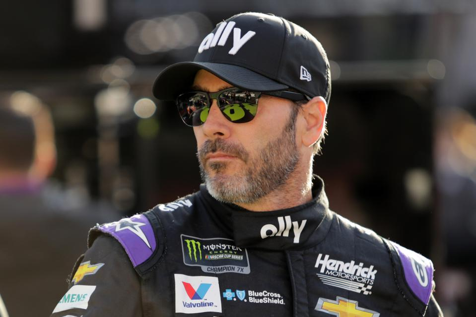 Monster Energy NASCAR Cup Series Food City 500 - Practice. Jimmie Johnson Nascar driver.