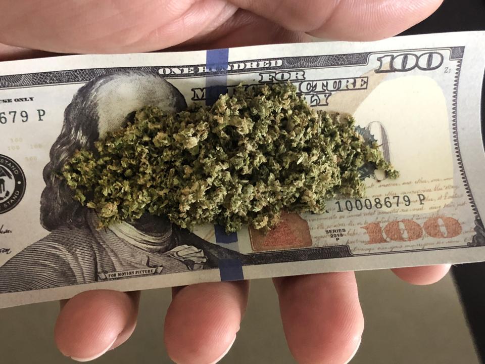 Marijuana on $100 bill