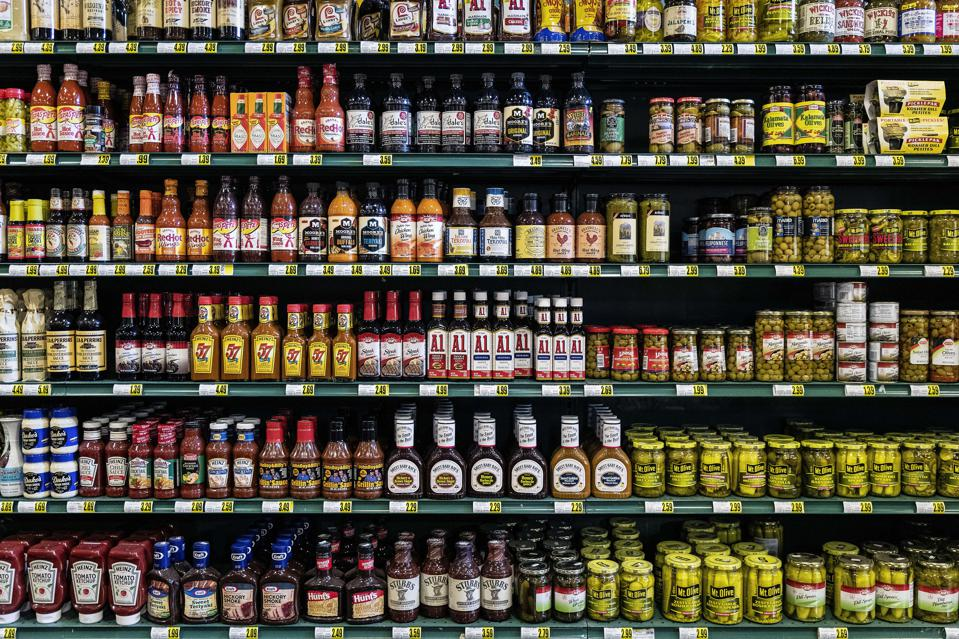 Shelves of a grocery store. Photo by John Greim/LightRocket via Getty Images