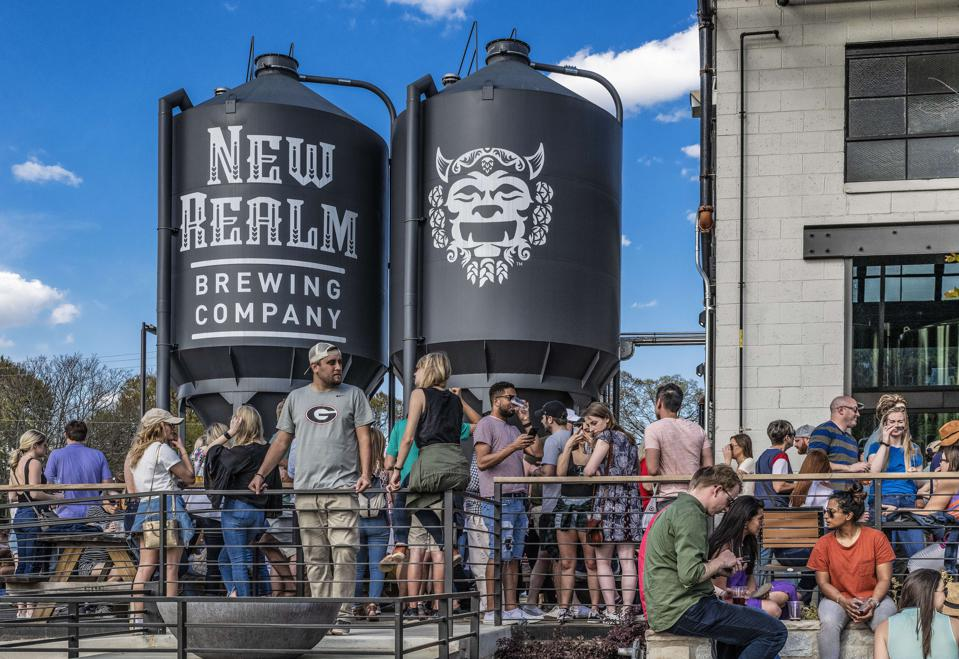 New Realm Brewery on the Beltline trail