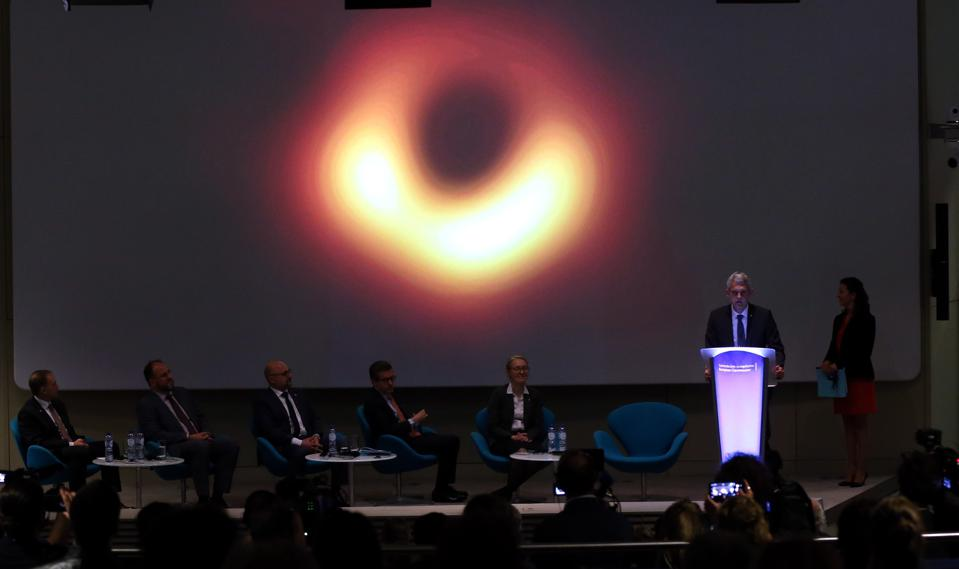 Scientists unveil first ever image of a black hole