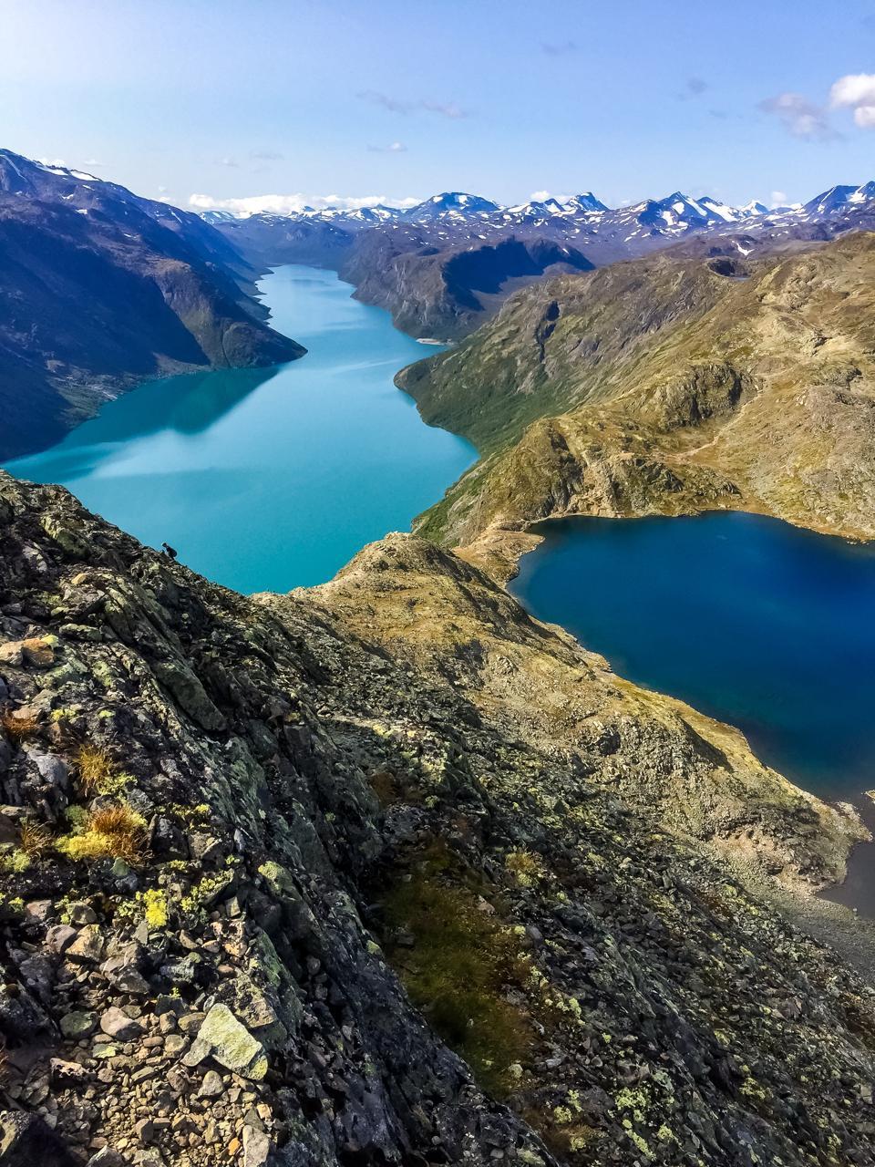 The Besseggen ridge in Jotunheimen National Park, Norway.