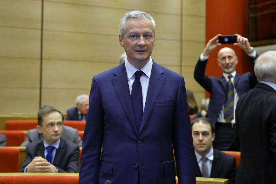 French Interior Minister Christophe Castaner Speaks At The Senate