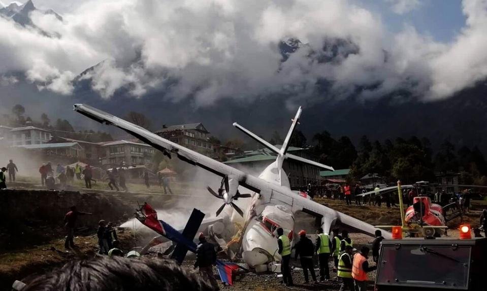 NEPAL-SOLUKHUMBU-LUKLA AIRPORT-AIRCRAFT CRASH