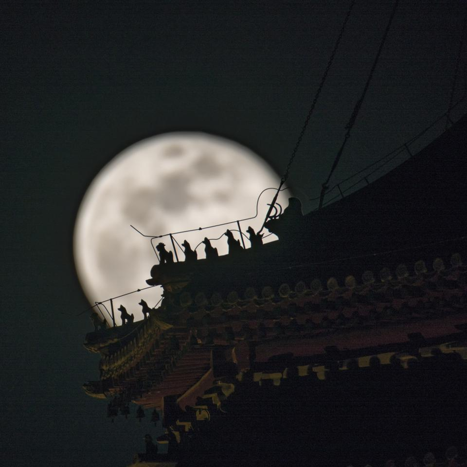Super Moon On Spring Equinox In China