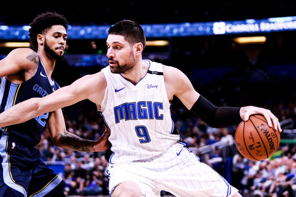 Nikola Vucevic of the Orlando Magic in a game against the Memphis Grizzlies on March 22.