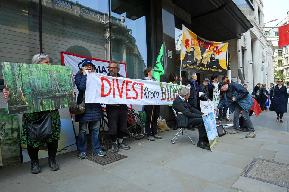 Biofuelwatch protest