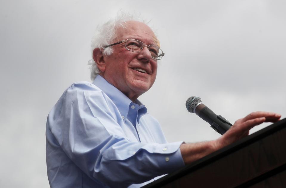 Bernie Sanders Rallies Supporters In Los Angeles