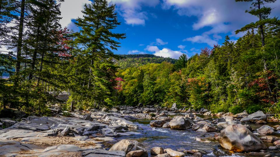 The white mountains in New Hampshire