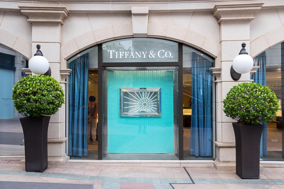 Tiffany&Co store seen in Tsim Sha Tsui, Hong Kong...