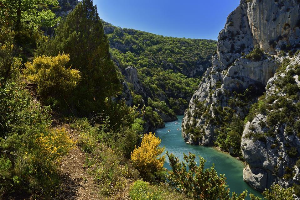 View of Verdon Gorges, Provence-Alpes-Cote d'Azur