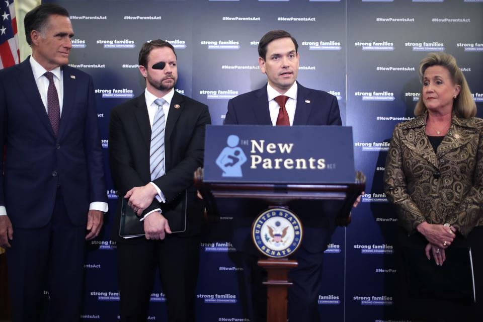 Senators Marco Rubio And Mitt Romney Unveil Paid Family Leave Legislation