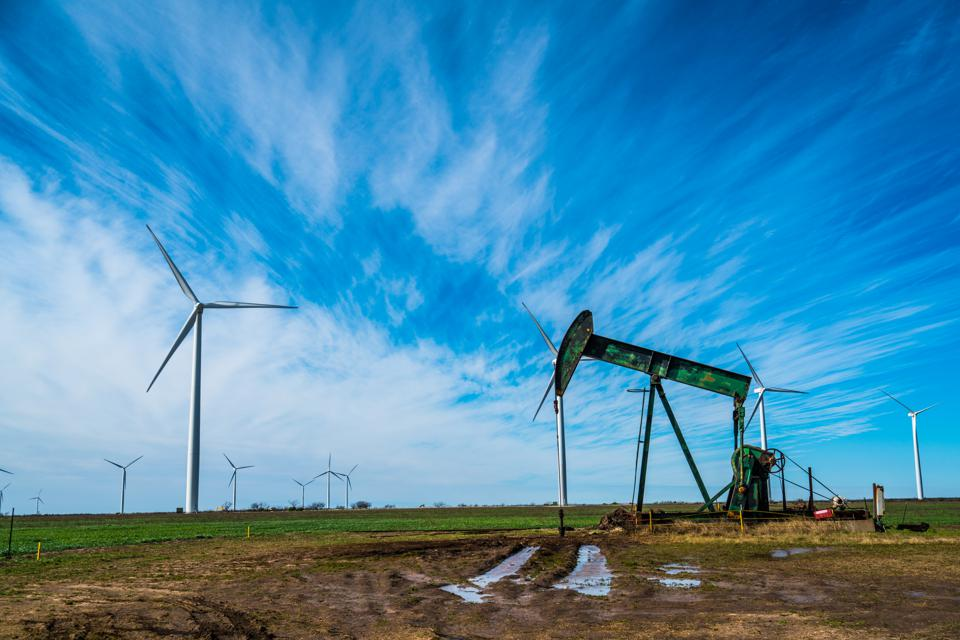 West Texas oil industry using wind energy to power fossil fuels