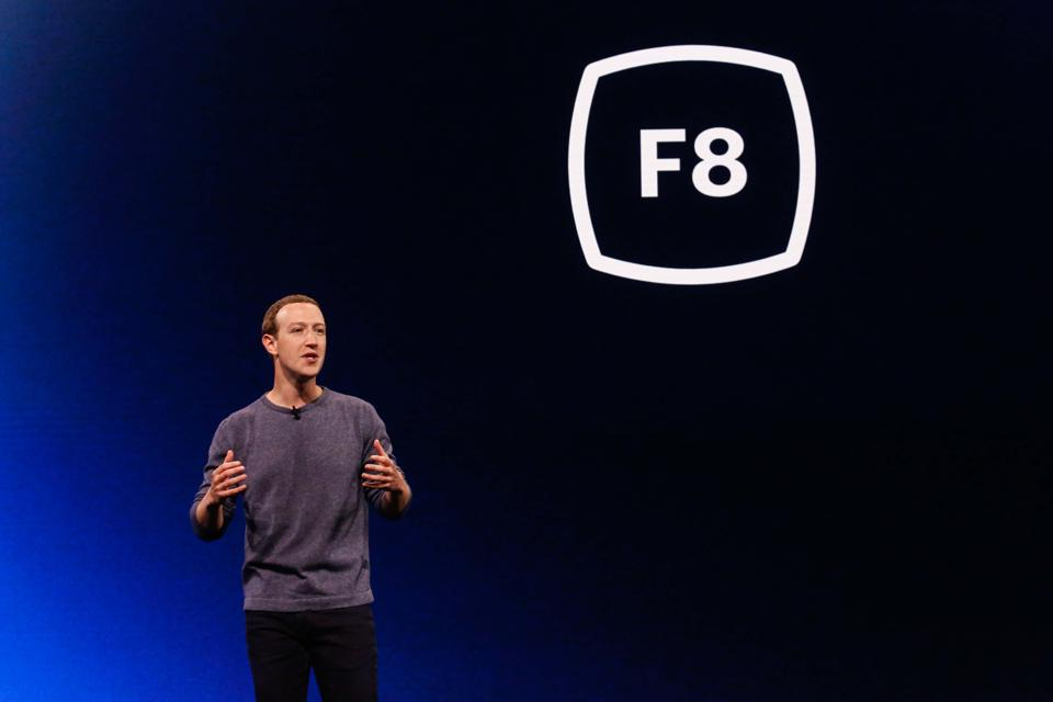 CEO Mark Zuckerberg. Facebook's stock surged following an FTC fine for privacy violations.