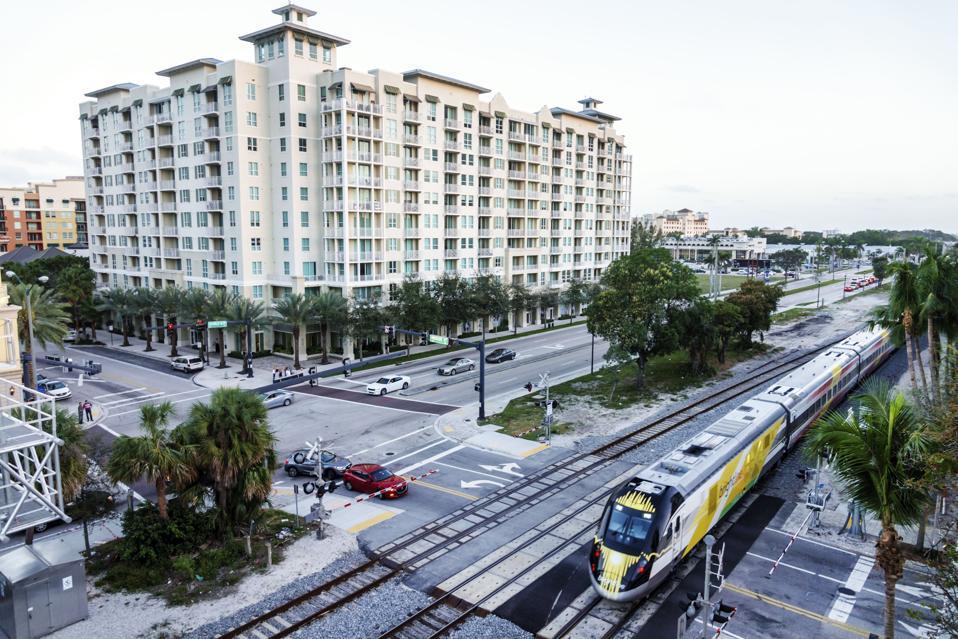 West Palm Beach, Brightline train