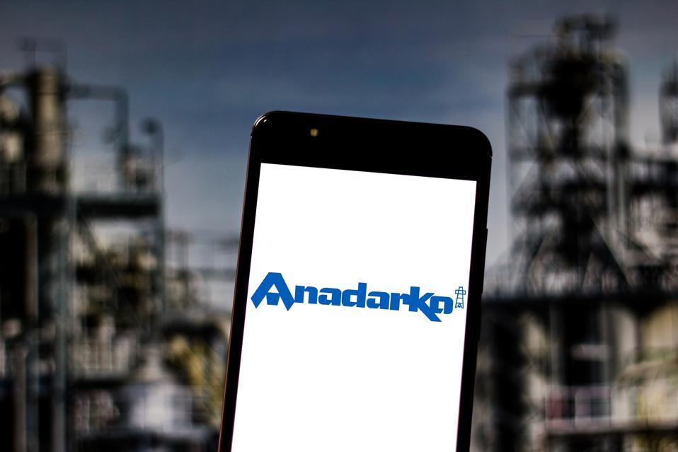 In this photo illustration the Anadarko Petroleum...