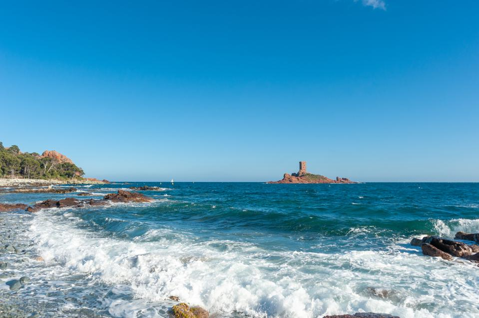 Coastal landscape at Cape Dramont near Saint-Raphael