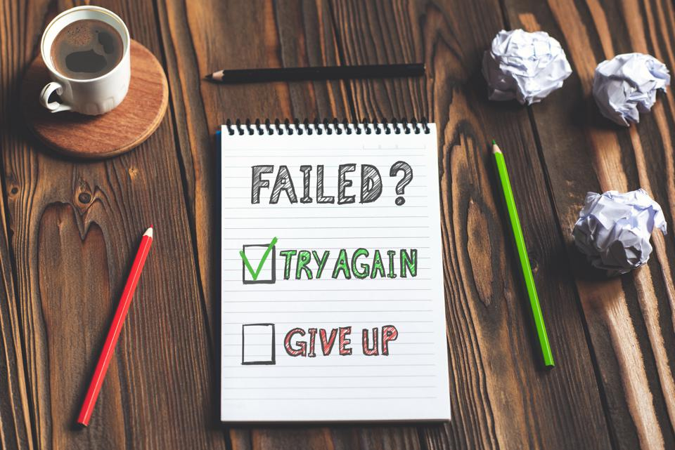 Concept For Try Again or Give Up Option After Failure