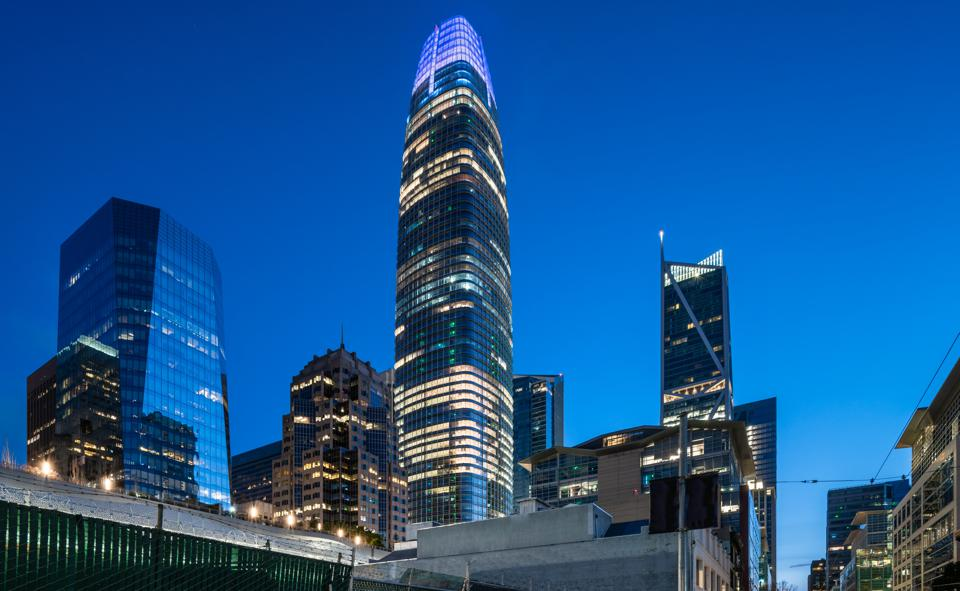 Howard Street View of Salesforce Tower - San Francisco