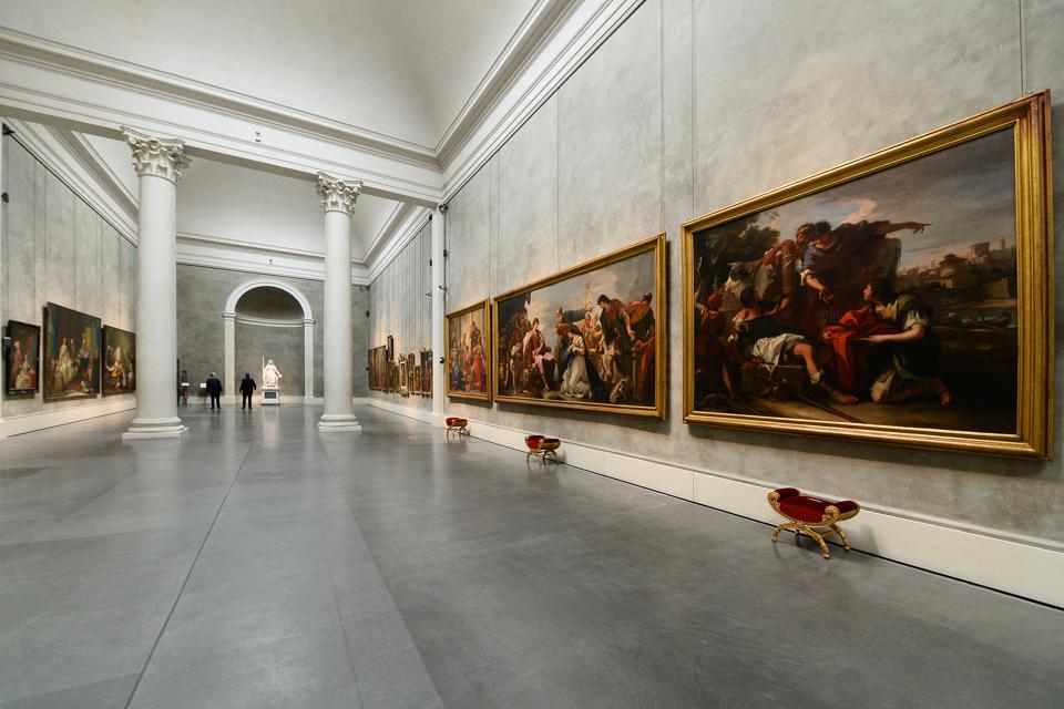 Director Simone Verdi Unveils Galleria Nazionale della Pilotta New   Museum Layout  ARMA, ITALY - APRIL 08: General view of the new set up of the National Art Gallery of Palazzo della Pillotta Monumental Complex on April 08, 2019 in Parma, Italy. (Photo by Roberto Serra - Iguana Press/Getty Images)