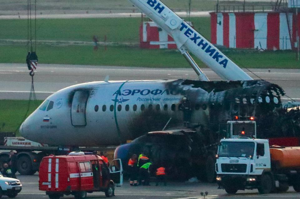Moscow's Sheremetyevo Airport after Aeroflot airliner crash landing