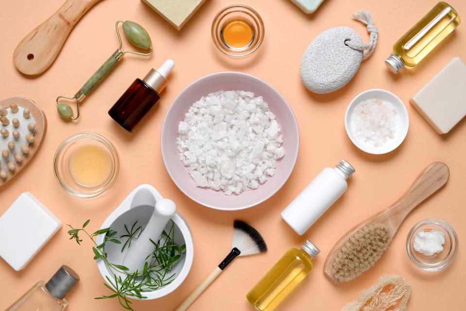 Spa products for home skin care